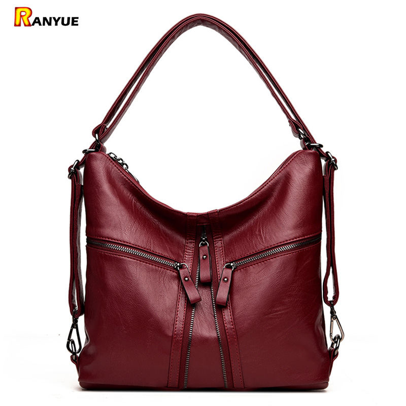 2018 New Big Hobo Women Bag Soft Pu Leather Female Handbags Ladies Double Shoulder Bags For Women Girl High Quality Designer Sac smiley sunshine brand serpentine leather women handbags hobo tote bag female snake tassel big shoulder bags ladies crossobdy bag