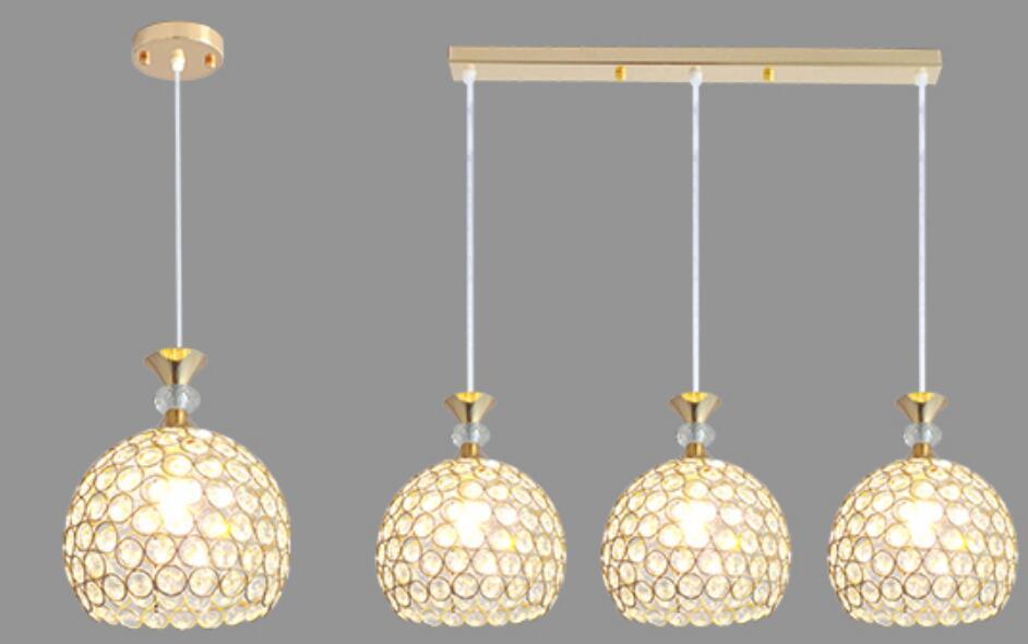 LED corridor hallway balcony Modern minimalist crystal pendant light dining room lamp three head single head SJ33