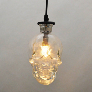 vintage Skull head glass pendant light hanging 1
