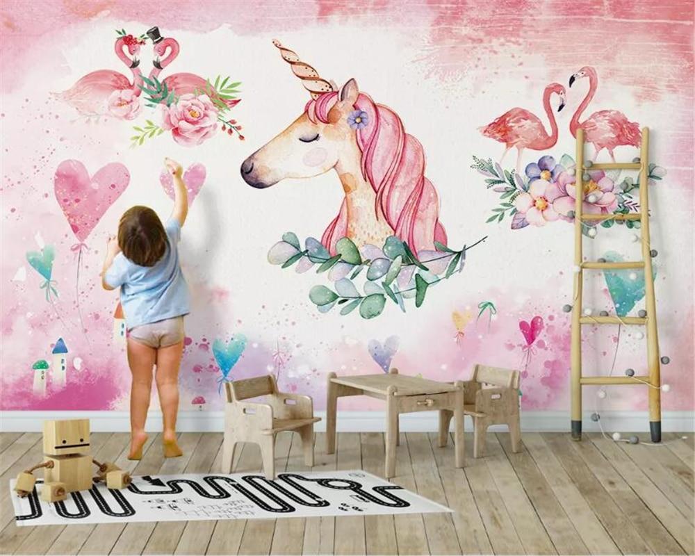 3D фотообои beibehang на заказ современные розовые обои ручной росписи любовь