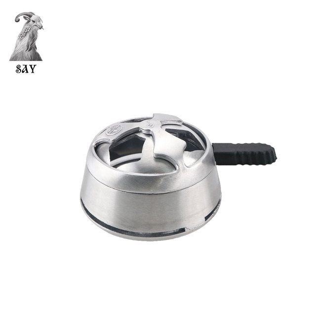 sy 1pcs stainless steel wire drawing shisha hookah bowl charcoal