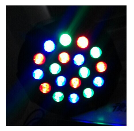 Free shipping 18*3W 3IN1 Led Stage Light High Power RGB LED Slim Flat Par Can DMX512 Master Slave DJ Disco Equipments Controller 3w led rgb high power led lamp bulbs rgb six legs 350ma 3 2 3 4v taiwan genesis hpo chips free shipping