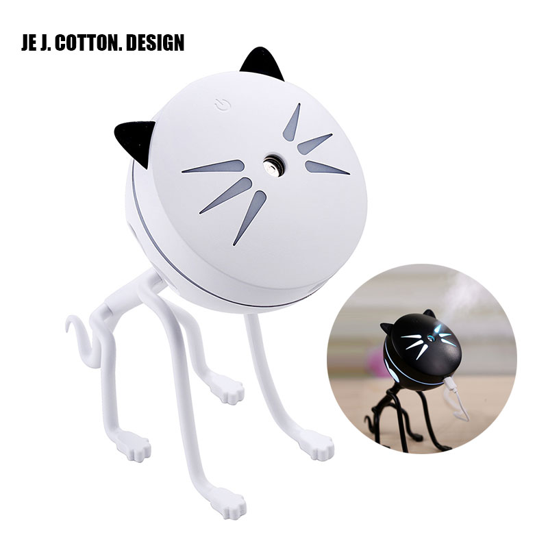 150ML Cat USB Humidifier Ultrasonic Car Air Freshener Home Aromatherapy Diffusers Air Purifier Mini Air Water Led Bulb Diffuser home car dual use mini usb vehicle aromatherapy humidifier ultrasonic air water supply instrument atomizer