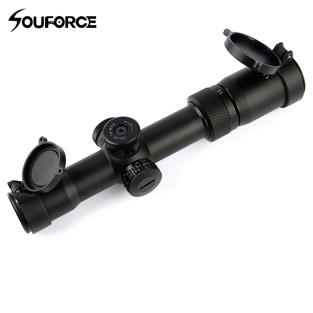 1 5 8X28IR Riflescope Glass Etched Reticle Fully Multi green Coated Optics for Rifle Airsoft Gun