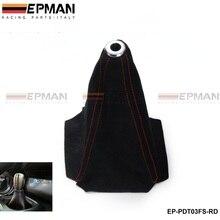 Универсальный Jdm черный замшевый чехол для ручного/автоматического переключения стежков для VW PASSAT AUDI A4 B6 2001-2007 EP-PDT03FS