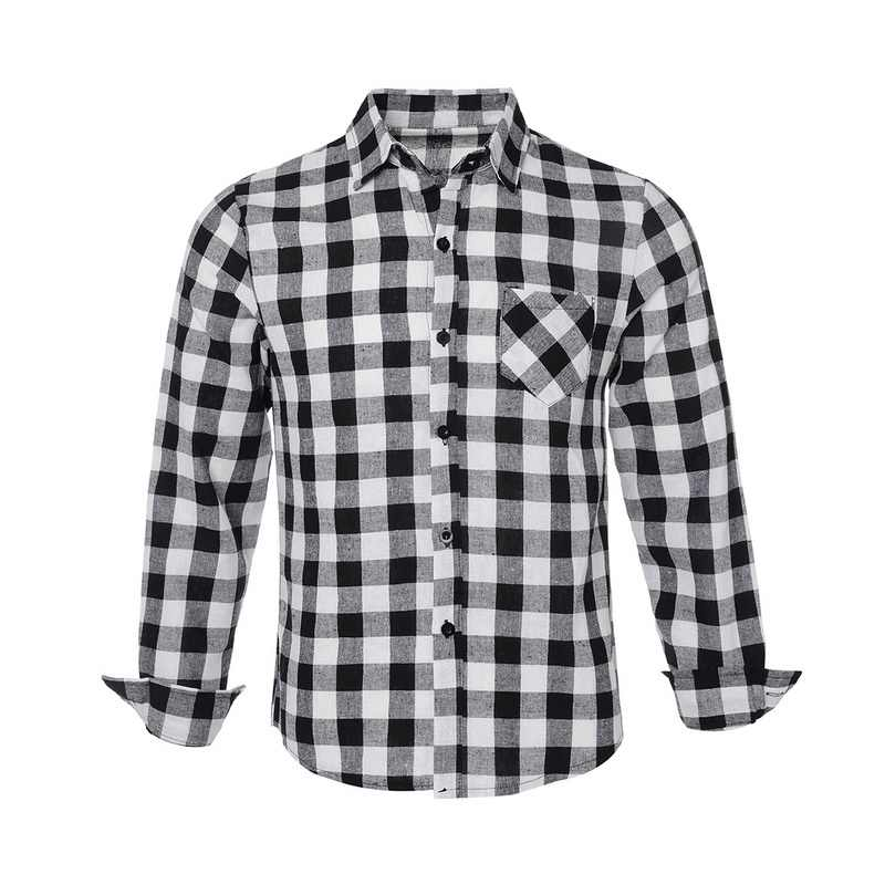 Drop verzending Adisputent Mannen Geruit Overhemd Mode Button Down Lange Mouwen Casual Shirts Mode toevallige plaid shirt