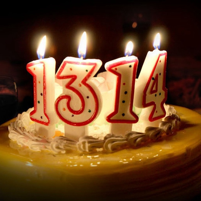 Dot Birthday Number Candle 1 2 3 4 5 6 7 8 9 0 Kids Adult Candles For Cake Party Supplies Decoration Decor