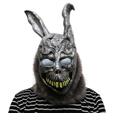 Latex Animal Cartoon Rabbit Mask Donnie Darko FRANK the Bunny Funny Halloween Party Adult Costume Cosplay Carnival Supplies