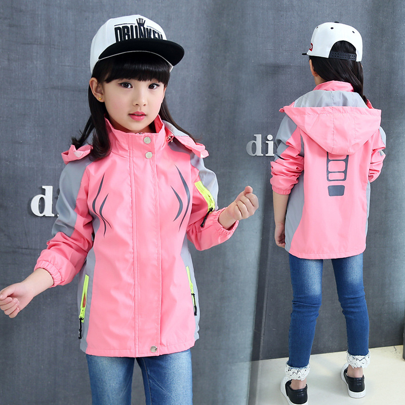 Baby Girls Coats For Kids Spring Hooded Outdoor Outerwear Children Sets  Casual Jackets 5- 14Years Girl Autumn Jacket