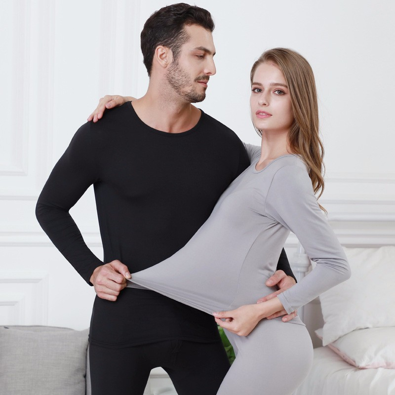 Deruilady Autumn Winter Thermal Underwear Tmall Sexy Lingerie Thin Lovers Men Women Winter Clothes Solid Breathable Long Johns