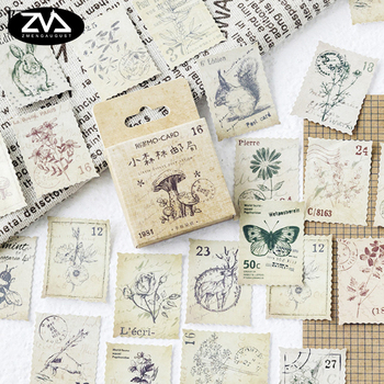 46 Pcs/box Little Forest Post Office mini Decoration paper sticker DIY diary scrapbooking seal sticker kawaii stationery 2 pcs lot vintage sweet life paper sticker diy scrapbooking diary album label sticker post kawaii stationery school supplies
