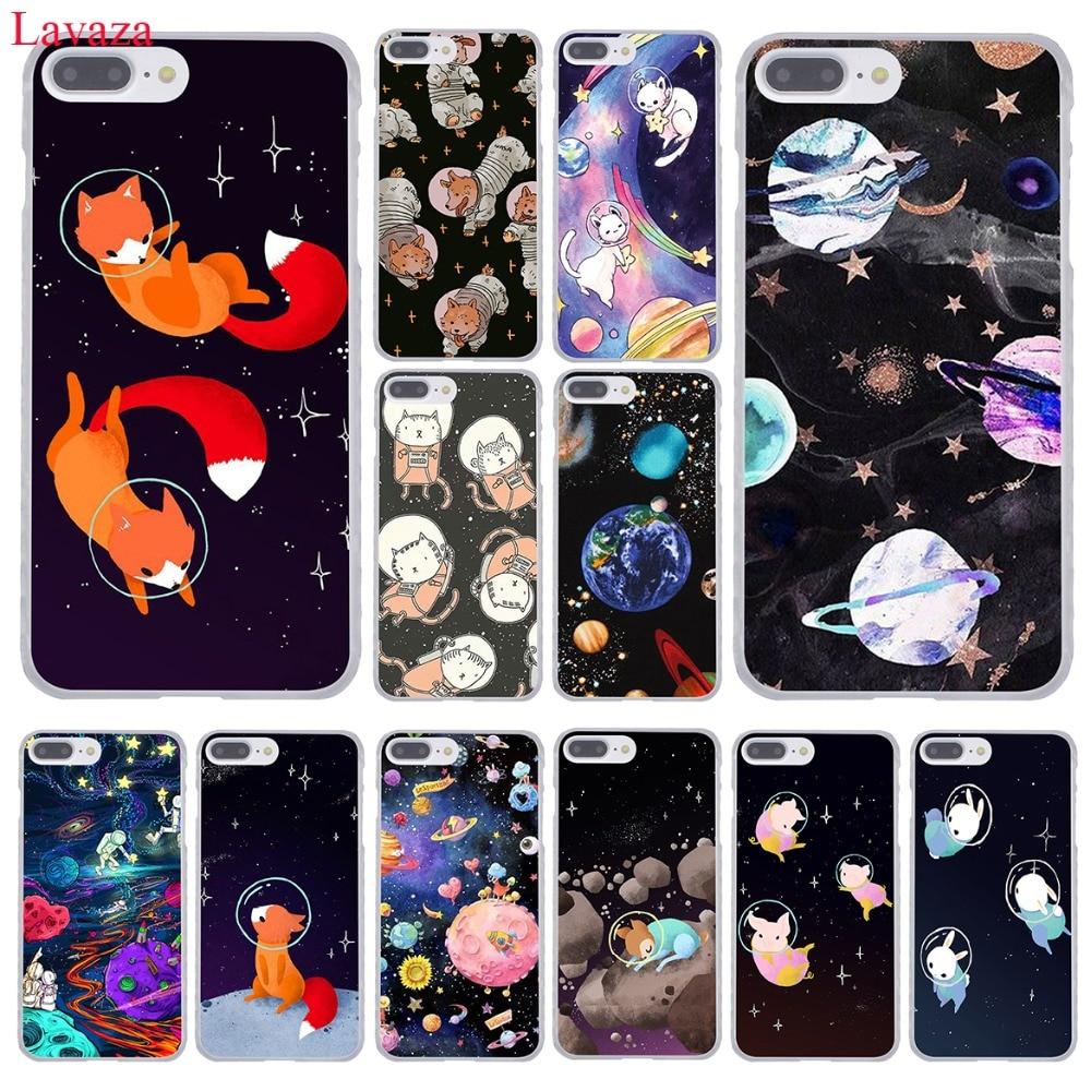 Lavaza cat Astronaut dog fox Space Moon universe Hard Phone <font><b>Case</b></font> for Apple <font><b>iPhone</b></font> 8 7 6 6S Plus X <font><b>10</b></font> 5 5S SE 5C 4 4S