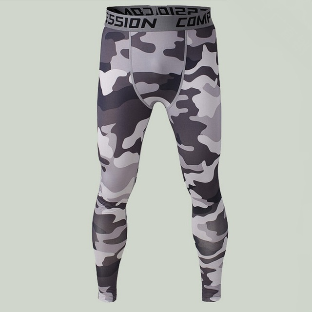 35354b974eb61 2015 fashion sport men underwear camouflage compression pants tights  Basketball Running camo Base Layer fitness jogging Trousers