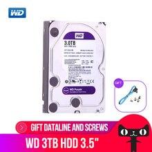 Western Digital наблюдения диск WD Purple 3 ТБ SATA 6,0 ГБ/сек. 3,5 «жесткий диск для CCTV камера AHD DVR IP камера NVR WD30EJRX