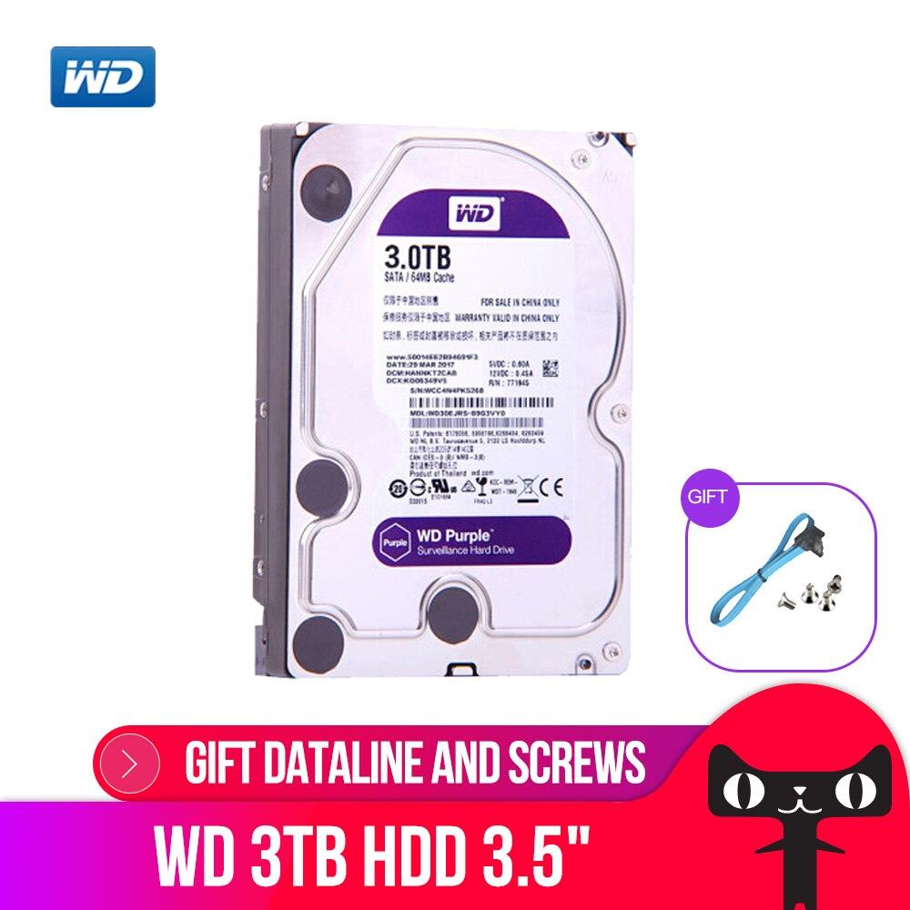 Western Digital Surveillance Disque WD Violet 3 TO SATA 6.0 Gb/s 3.5 Disque Dur pour caméra cctv AHD DVR IP caméra NVR WD30EJRX