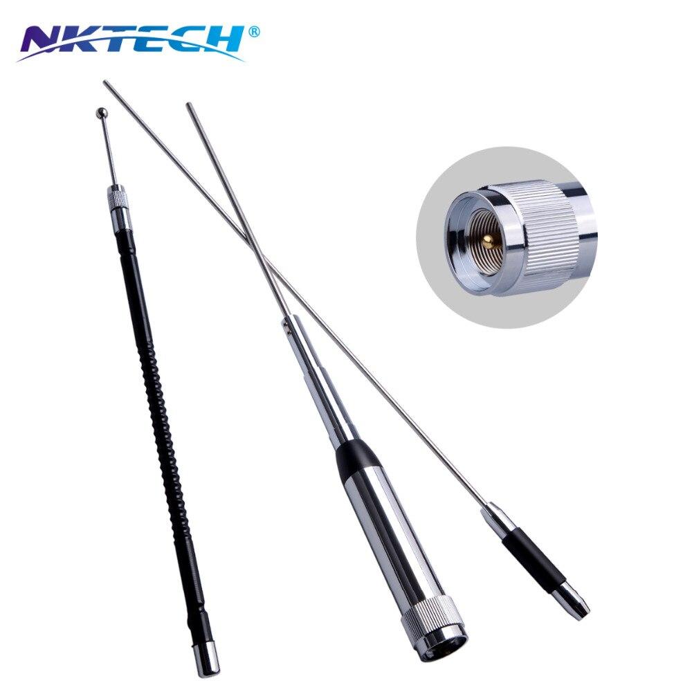 NKTECH NK-9900 Quad Bande Inoxydable Antenne 10 m/6 m/2 m/70 cm 60/150 W Pour TYT TH-9800 WOUXUN KG-UV950P KG-UV920R Mobile Émetteur-Récepteur