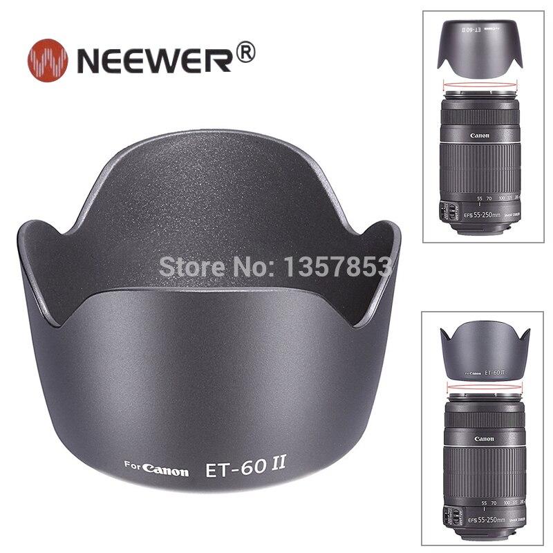 NEEWER Бленда ET-60 II для canon ef 75-300mm f/4.0-5.6 USM, II, II USM, III, III USM Линзы, Canon EF-S 55-250 мм IS Объектив