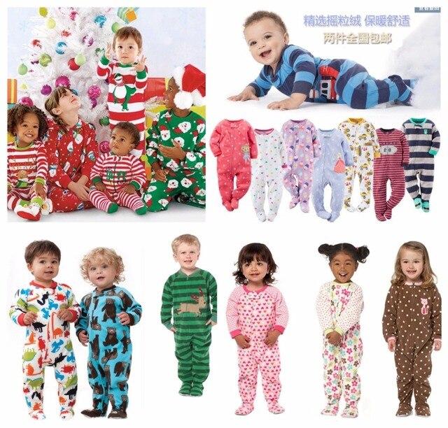 0d4d600a79a28 Enfants garçons et filles polaire Siamois escalade vêtements avec pied  chaud pyjamas bébé justaucorps Barboteuse sac