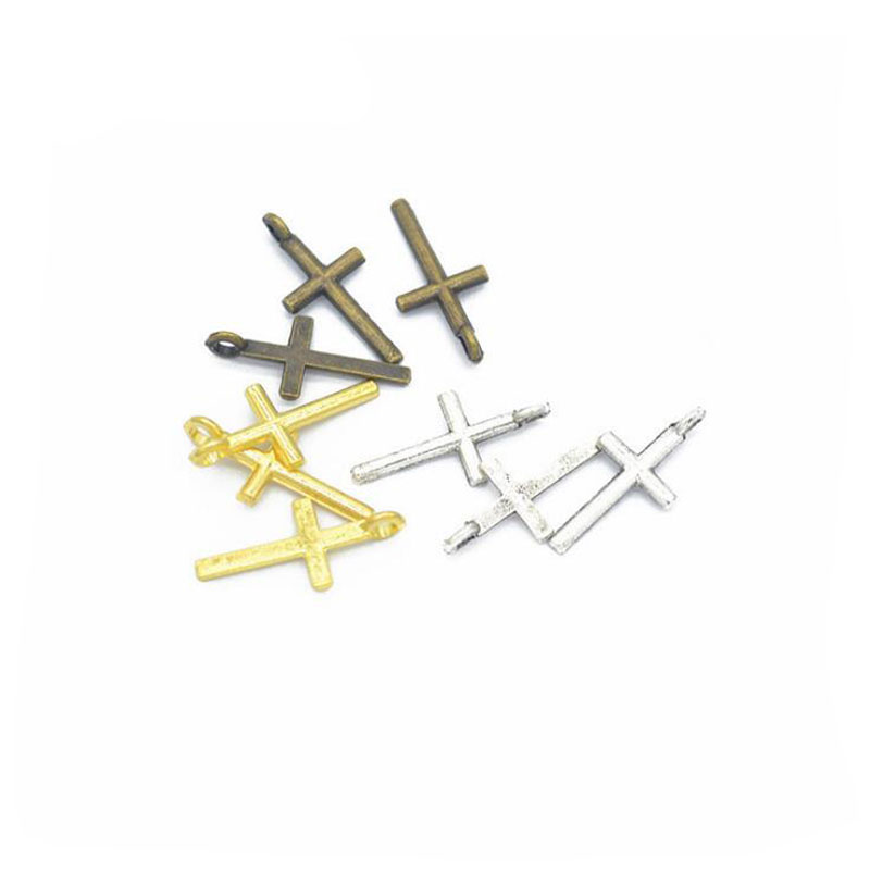 Home & Garden Creative 100pcs 17x8mm Antique Silver/antique Bronze/gold Crosses Charm Pendants For Jewelry Making Making Things Convenient For Customers