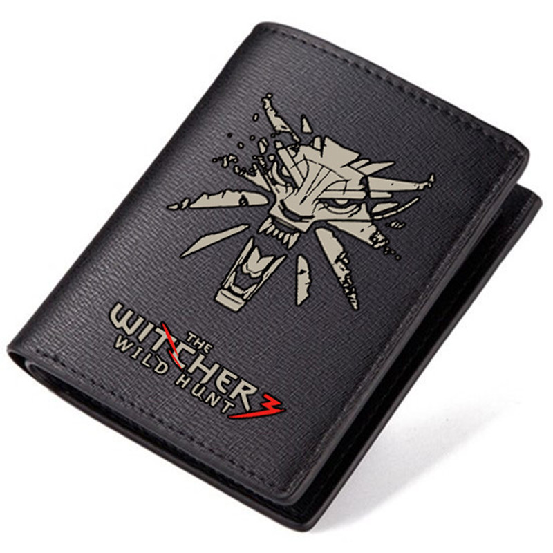 High Quality 2017 New The Witcher 3: Wild Hunt Printing Unisex Long Wallet Fashion Men Clutch Bags Pu Leather Men Short Purse