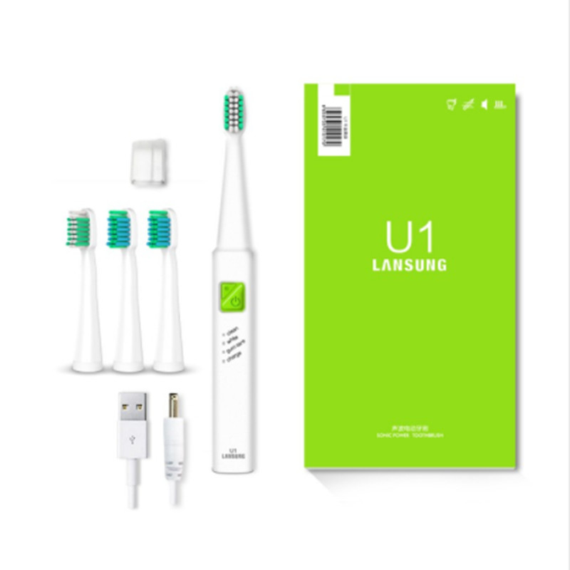 Electric Toothbrush Ultrasonic Sonic Electric Toothbrush USB Charge Rechargeable Tooth Brushes With 4 Pcs Replacement Heads sarah fleer hier kommt paul leicht
