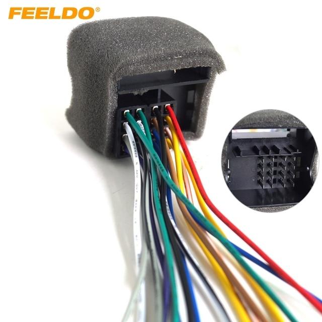 US $2.18 16% OFF|FEELDO 1Pc Car Stereo Wiring Harness For Audi/BWM/Volkswagen/Mini/Dodge/Installing on