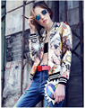 The New Fashion Leisure Stamp Uniform Cardigan retro rome 3d charming fascinating modern urban statue trend women Jacket