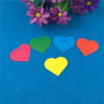 200 pzas unids/lote múltiples colores en blanco DIY pegatinas en forma de corazón autoadhesivas etiquetas hechas a mano para paquete de equipaje de libros fiesta de cumpleaños