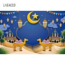 Laeacco Eid Mubarak Moon Camel Mosque Portrait Photography Backgrounds Customized Photographic Backdrops For Photo Studio
