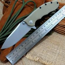Hot Selling 0562 Folding Blade Knives 9CR18MOV Blade Titanizing Steel G10 Handle Ball Bearing Camping Knife Outdoor Tools