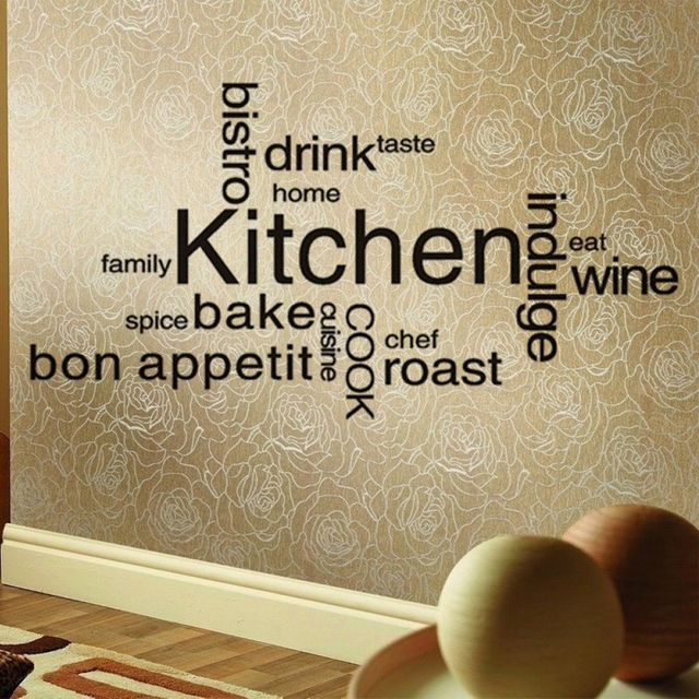 Kitchen Wall Decor Inspirations Romantic Kitchen Restaurant Tile Vinyl Stickers  Wall Decals Art Kitchen Decor Mural