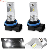 2pcs 6000K Xenon White Powered By Philips Luxen Chips LED H11 H8 H9 Bulbs For Fog
