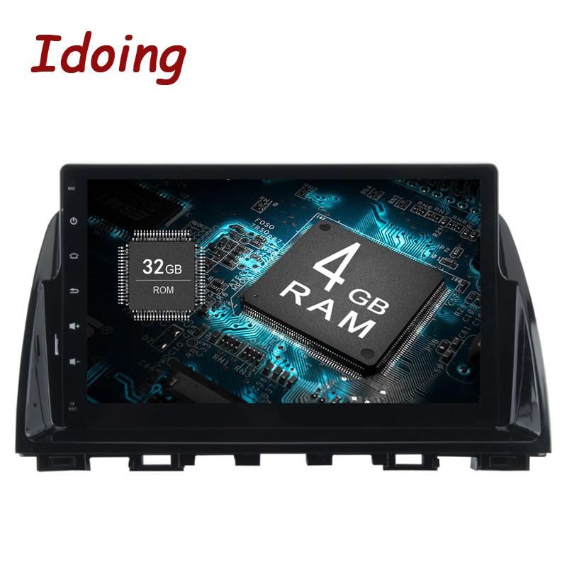 Idoing 2Din 9inch 4G RAM 32G ROM Steering Wheel Android8.0 Car Multimedia Player Fit Mazda 6 2014 Octa Core Fast Boot 3G/4G TV