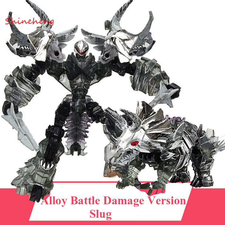 SHINEHENG Deformation Movie 4 Triceratops Slug Robot Dinosaur Model ABS&Alloy Action Figure Toy Boy Gift Battle Damage Version dinosaur transformation plastic robot car action figure fighting vehicle with sound and led light toy model gifts for boy