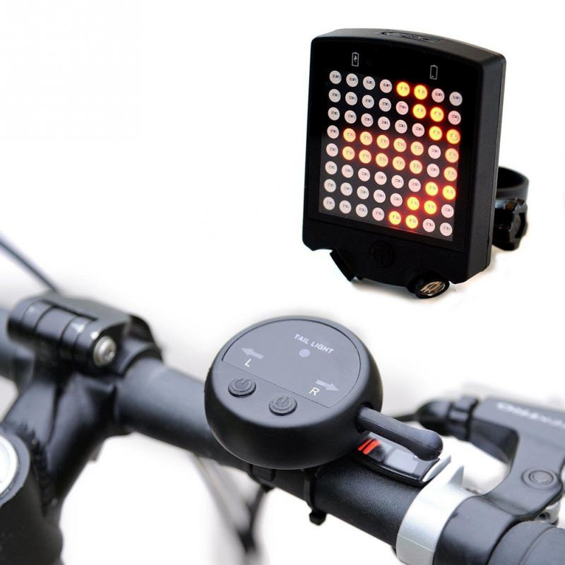 Brand NEW 64 LED Laser Bicycle Rear Tail Light USB Rechargeable With Wireless Remote Bike Turn Signals Safety Warning Light beginagain smart bike wireless laser rear light bicycle remote control turn light safety led warning tail light usb charge