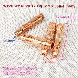 Image 3 - Argon TIG Torche De Soudage Consommables Électrode De Tungstène Collet Corps Dalumine Buse Longue Cap Court 26 pièces WP18 WP17 WP26 TIG kits