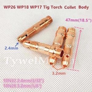 Image 3 - Argon TIG Welding Torch Consumable Tungsten Electrode Collet Body Alumina Nozzle Long Short Cap 26pcs WP18 WP17 WP26 TIG Kits