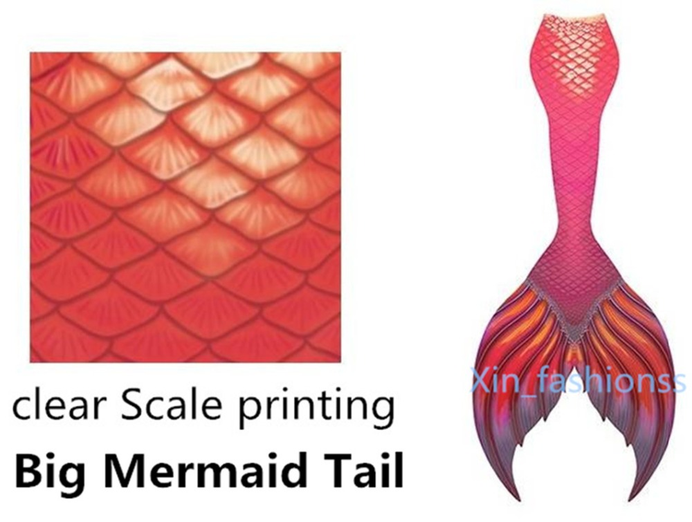 2018!NEW Kids Adults Mermaid Tail  Swimmable  Costume for Women Cosplay Costumes Swimming Swimwear Costumes