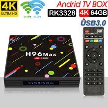 Xinways H96 MAX Plus Caixa Smart TV Android 7.1 Rockchip RK3328 4 gb gb gb USB3.0 64 32 H.265 4 k GooglePlay Netflix set top box