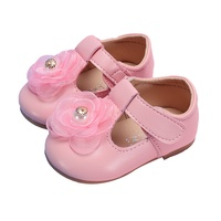 Baby Girls Single Party Shoes Artificial PU First Walkers Low Tube Infant GirlsLittle Princess Bow Soft Bottom Children Shoes