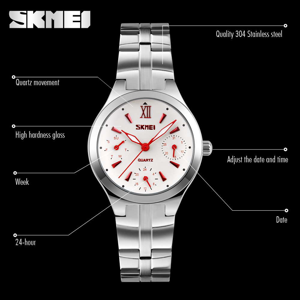 מוצר skmei womens watches top brand quartz