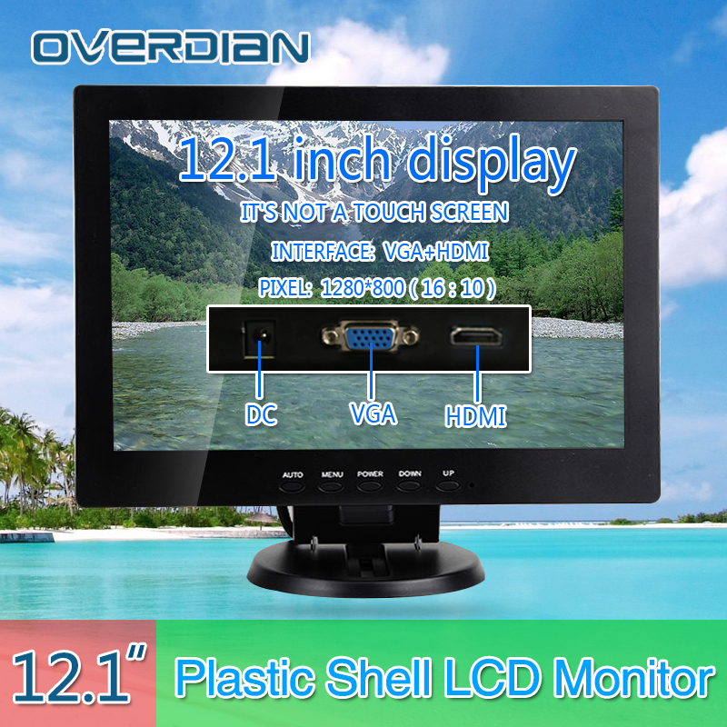 12VGA/HDMI Connector Desktop Monitor 1280*800 Song Machine Cash Register Lcd Non-Touch IPS ScreenPlastic Shell Monitor norman f gorny northern song dynasty cash variety guide 2016