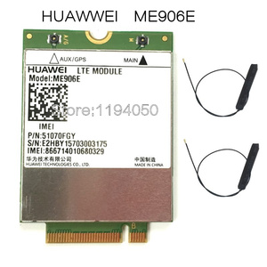 Image 1 - HUAWEI ME906e + 2 pcs. IPX4 NGFF M.2 TV antennas 100% original FDD LTE 4G Modules WCDMA GSM Surpport GPS module available