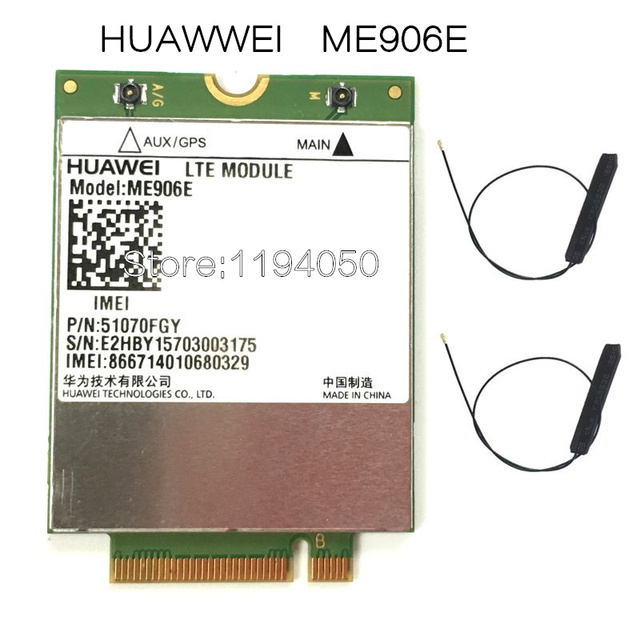 HUAWEI ME906e + 2 pcs. IPX4 NGFF M.2 TV antennas 100% original FDD LTE 4G Modules WCDMA GSM Surpport GPS module available