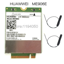 HUAWEI ME906e + 2 pcs. IPX4 NGFF M.2 TV antennen 100% original FDD LTE 4G Module WCDMA GSM Surpport GPS modul verfügbar