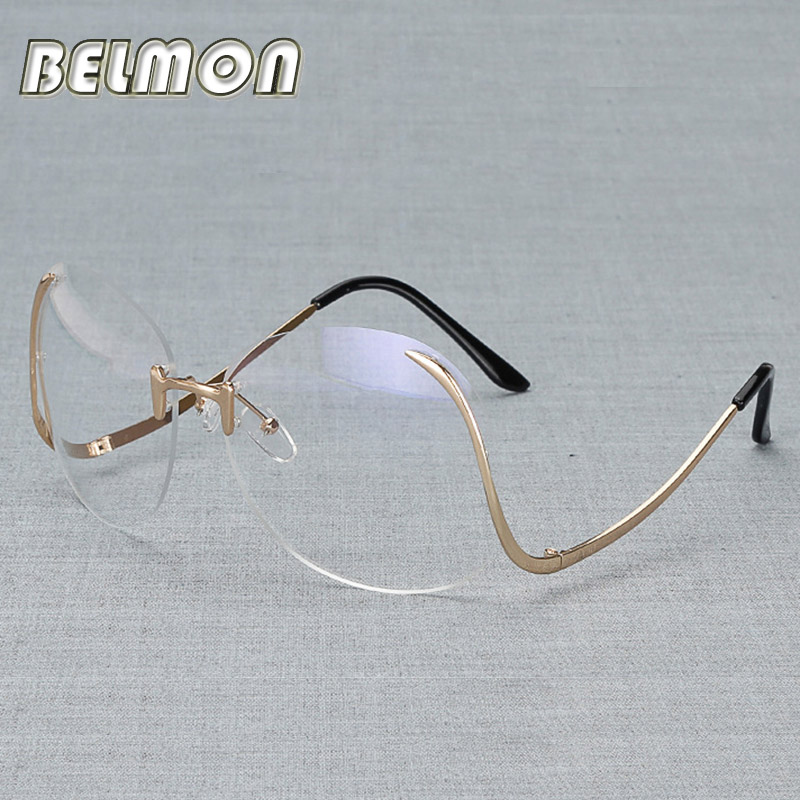 Fashion Eyeglasses Frame Women Computer Optical Brand Clear Eye Glasses Spectacle For Women's Transparent Lens Female RS036
