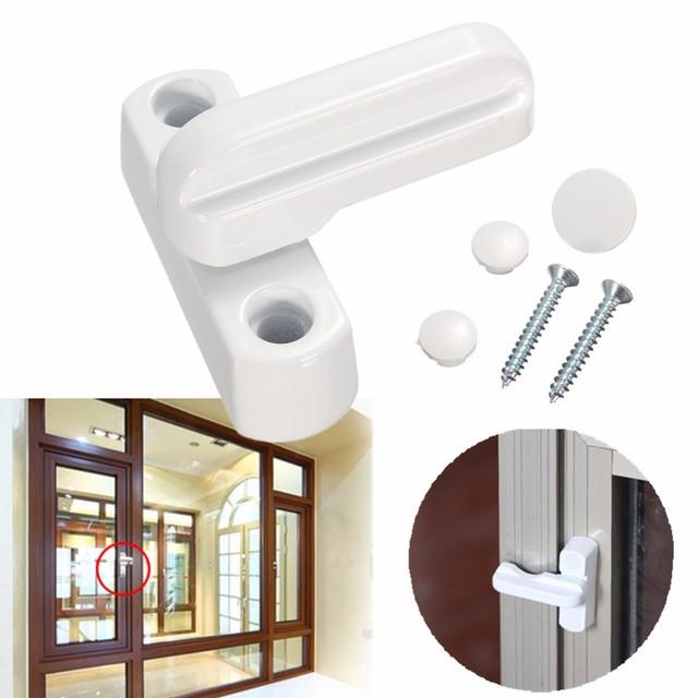 New Zinc Alloy UPVC Aluminum Windows Lock Door Windows Sash Jammers Extra Security Swing Lock Anti Theft Window Door Latches