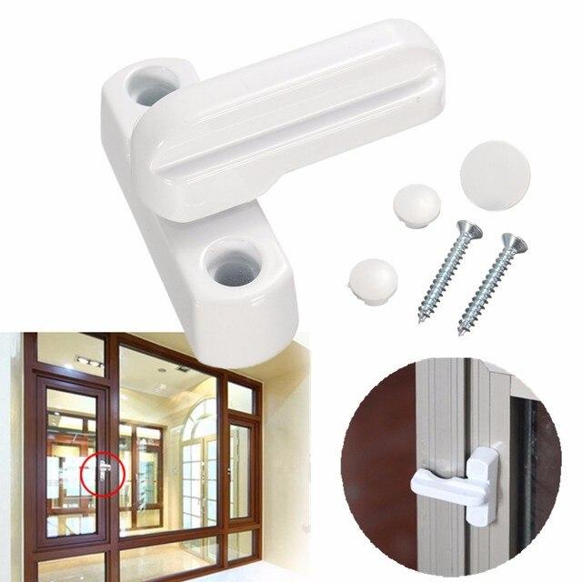 Nueva aleación de Zinc aluminio UPVC Windows Lock puerta ventanas Sash Jammers seguridad Swing bloqueo antirrobo ventana puerta pestillos