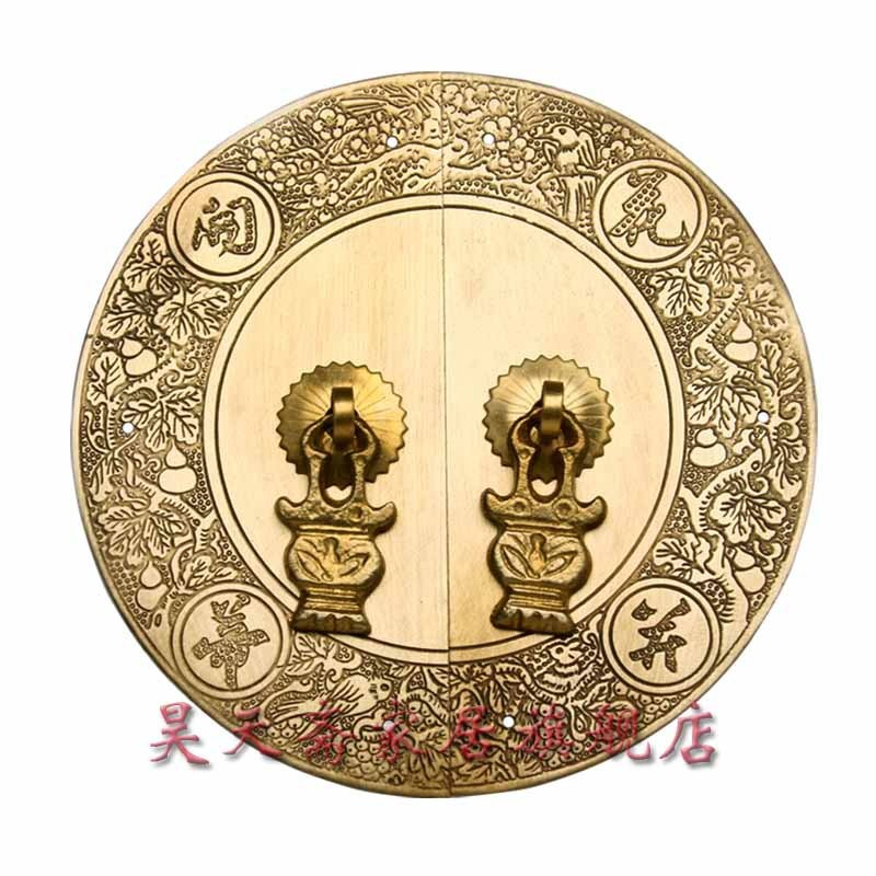 [Haotian vegetarian] antique copper fittings copper door handle flowers Bingdi paragraph HTB-041 Door Handle [haotian vegetarian] antique copper straight handle antique furniture copper fittings copper handicrafts htc 041