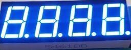 50PCS x 0 56 inches Blue Common Cathode 4 Digital Tube 5461AB LED Display Module